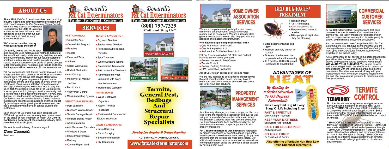 Brochure Pest Control Designs for Fat Cat