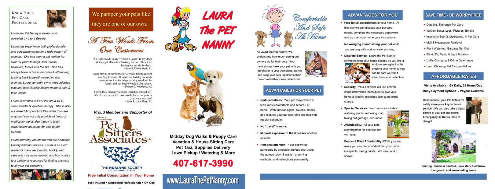 Pet Laura Brochure Samples