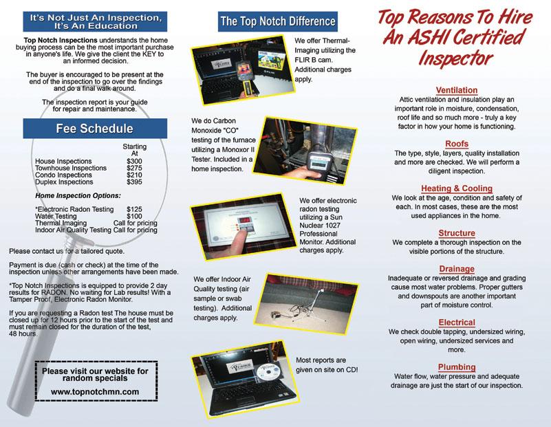 Certified Inspectors Brochure Design