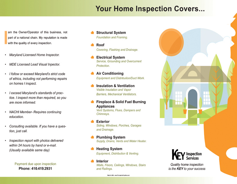 Home Inspection Cover Sample