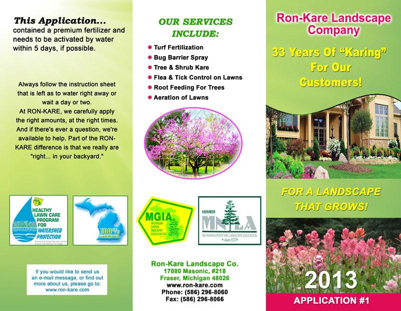 Ron Kare Landscape Brochure Sample