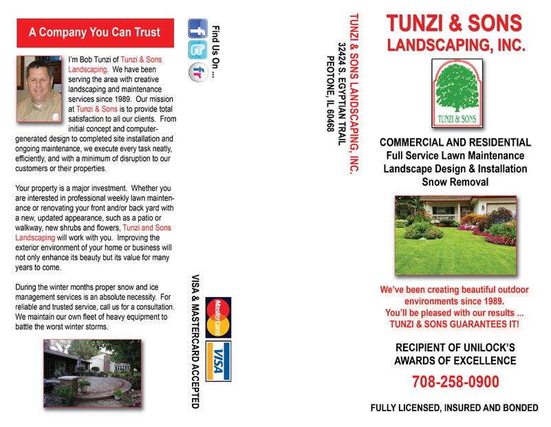 Landscapers Brochure Design Services